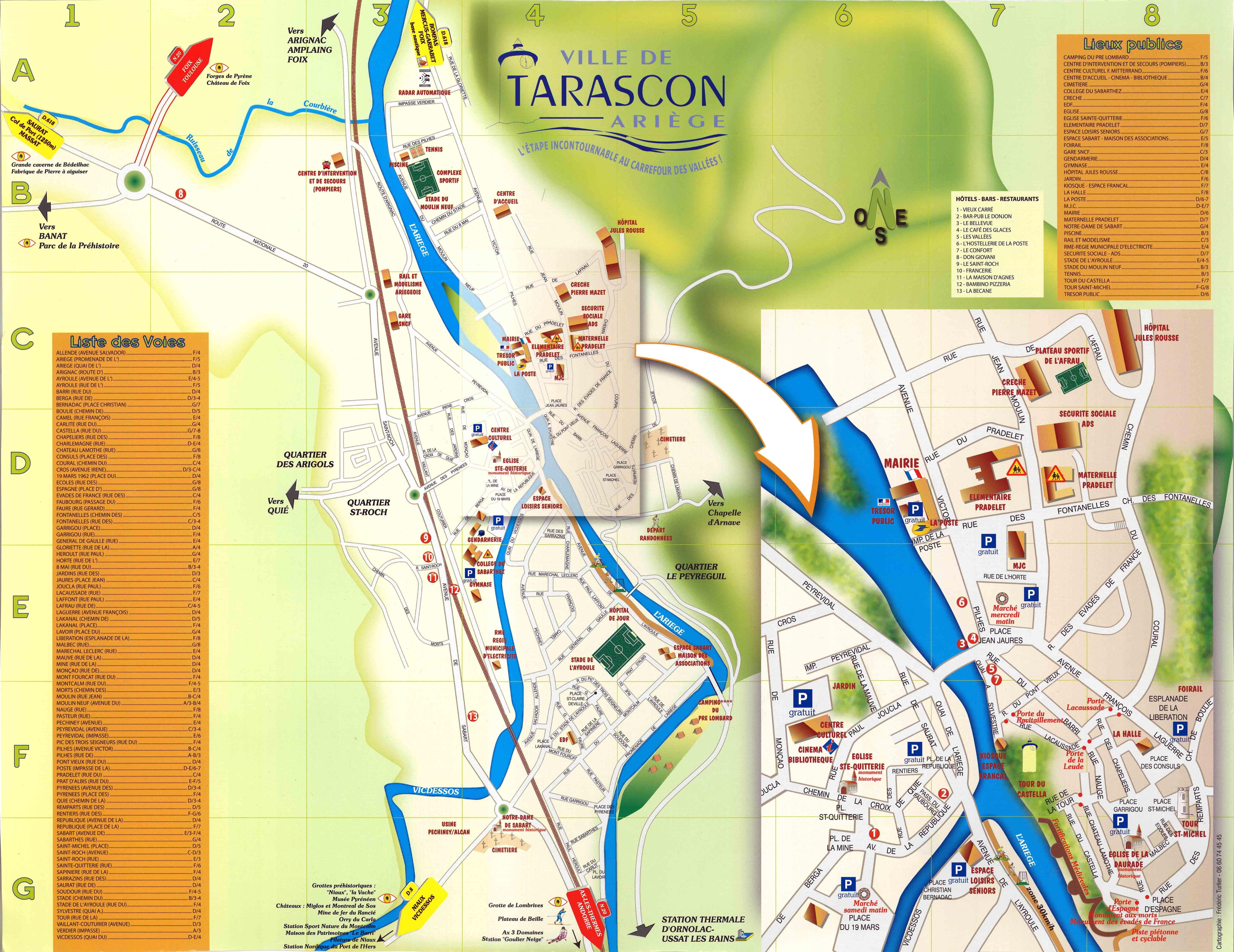 Comment venir site de la mairie de tarascon - Office du tourisme de tarascon sur ariege ...